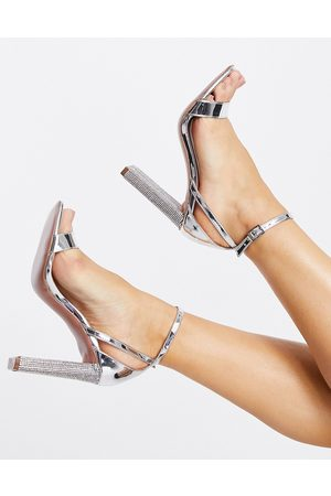 ASOS Noelle barely there block heeled sandals in