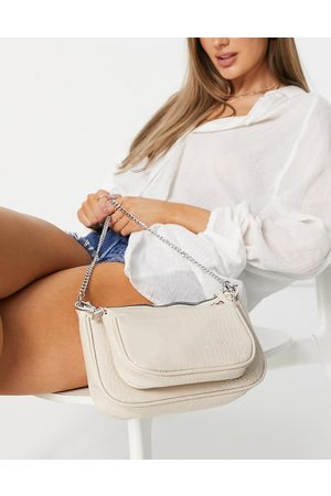 ASOS Multi-bag with card holder in stone croc-Neutral