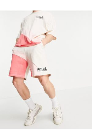 ASOS Co-ord shorts in with curved colour block detail