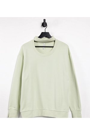 AsYou Cut out sweatshirt in sage