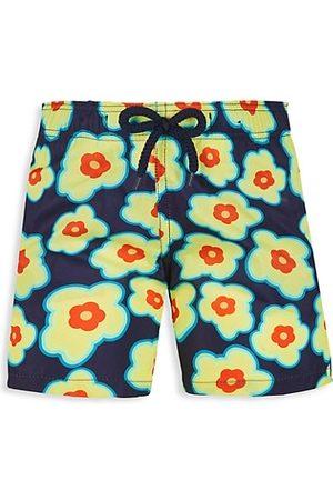 Vilebrequin Little Boy's & Boy's 1981 Flower Turtle Swim Shorts