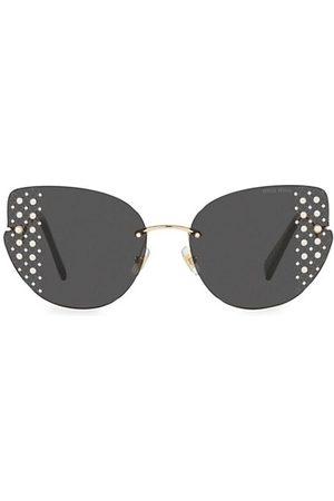 Miu Miu 63MM Crsytal-Embellished Butterfly Sunglasses