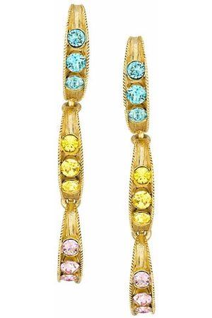 Oscar de la Renta Earrings - Swarovski Multicolor Crystal Peapod Linear Earrings