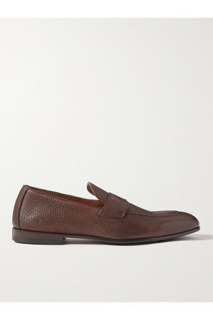 Brunello Cucinelli Men Loafers - Full-Grain Leather Penny Loafers