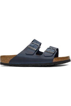 Birkenstock Navy Oiled Leather Arizona Sandals