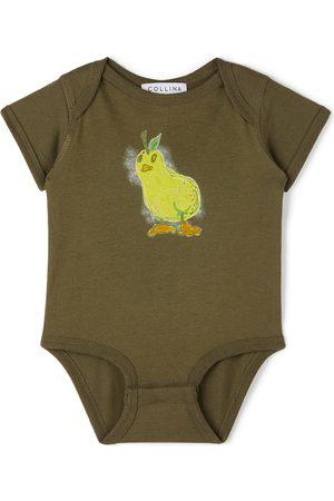 Collina Strada SSENSE Exclusive Baby Khaki Pear Printed Bodysuit