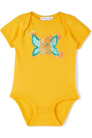 Collina Strada SSENSE Exclusive Baby Butterfly Printed Bodysuit