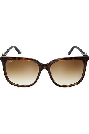 Cartier 56MM Square Sunglasses