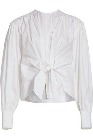 Proenza Schouler Tie-Front Poplin Shirt