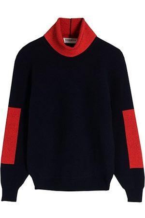 Victoria Beckham Colorblock Turtleneck Sweater