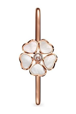 Chopard Happy Diamonds Happy Hearts Flower 18K Rose Gold, Mother-Of-Pearl & Diamond Bangle