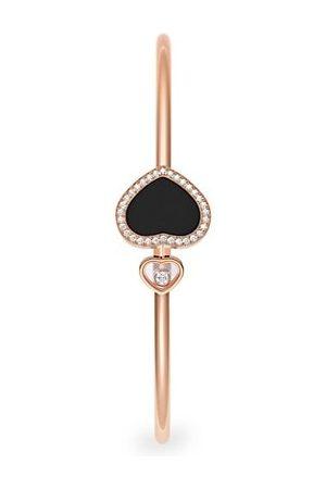 Chopard Happy Diamonds Happy Hearts 18K Rose Gold, Diamond & Onyx Bangle