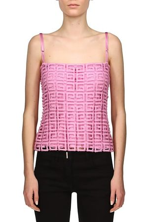 Givenchy Women Tank Tops - 4G Guipure Lace Top