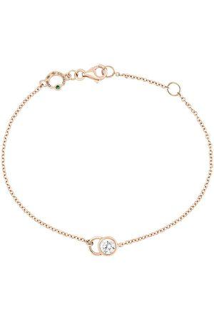 COURBET Women Bracelets - 18kt rose gold diamond CO chain bracelet