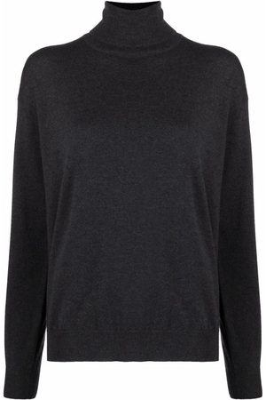 Brunello Cucinelli Women Jumpers - Roll neck cashmere-knit sweater