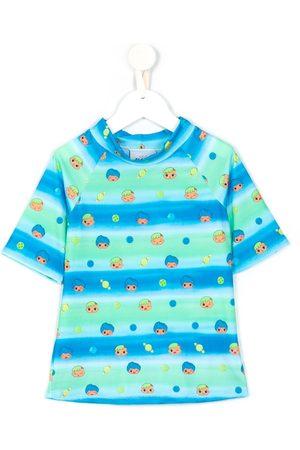 AMIR SLAMA Boys Short Sleeve - Graphic-print short-sleeved T-shirt