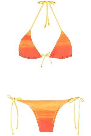 AMIR SLAMA Striped ombré bikini