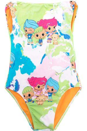 AMIR SLAMA Girls Swimsuits - Cartoon print swimsuit