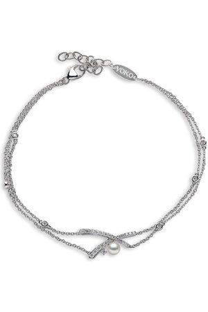 Yoko London Women Bracelets - 18kt white gold diamond Akoya pearl Sleek bracelet
