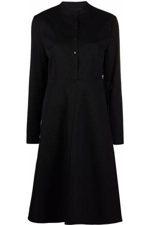 Jil Sander Women Casual Dresses - Virgin wool button-dwon shirtdress