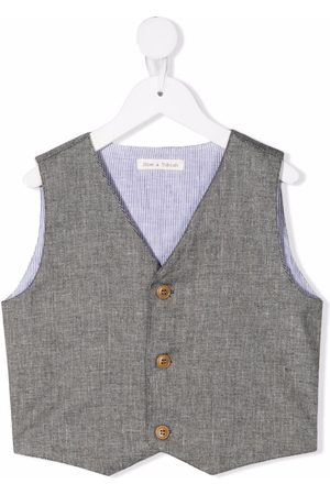 Zhoe & Tobiah Buttoned-up slub-textured gilet