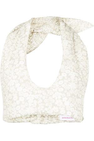 Jordan Dalah Studio Floral-print padded vest