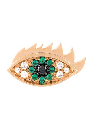 DELFINA DELETTREZ Eyes on me' diamond and emerald earring