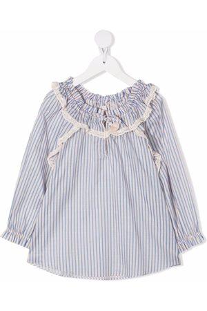 ZIMMERMANN Ruffle-collar striped blouse