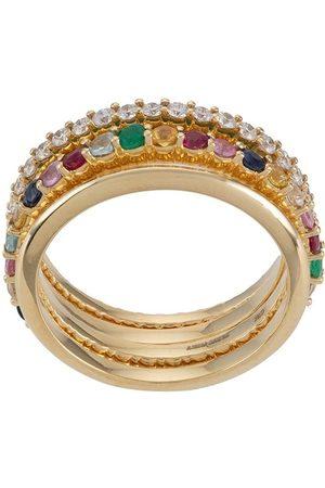 Aisha Baker 18kt yellow gold Enchanté set of four rings