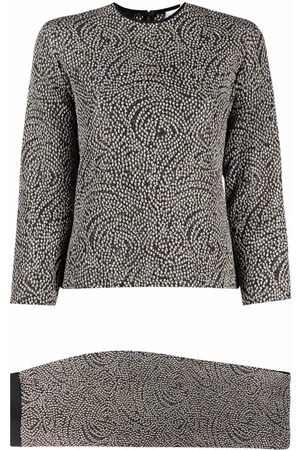Gianfranco Ferré 1990s knitted top and skirt set