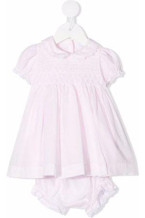 SIOLA Peter pan-collar cotton-blend dress