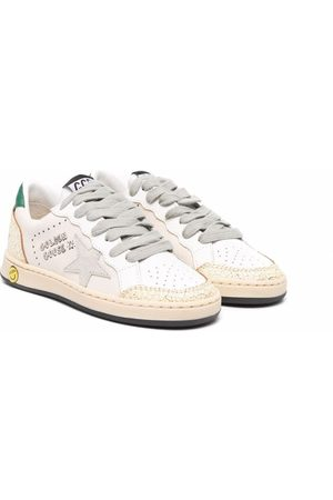 Golden Goose Aged-effect logo-patch trainers
