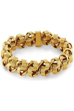 Pragnell Vintage 1980s 18kt yellow fancy link bracelet