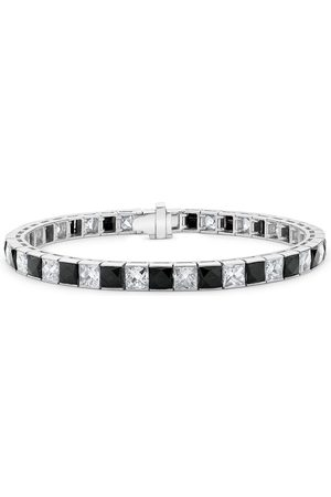 Pragnell Vintage Platinum Art Deco diamond and onyx line bracelet