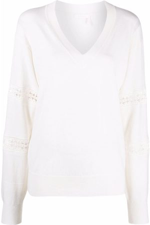 See by Chloé Embroidered fine-knit jumper