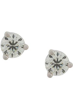 DELFINA DELETTREZ 18kt white gold Dots Solitare round diamond stud earrings