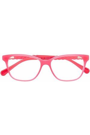 Chloé Rectangle braided frame glasses