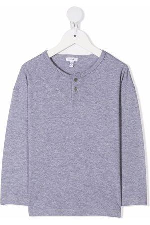 KNOT Henley buttoned neck T-shirt