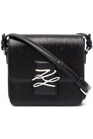Karl Lagerfeld Karl autograph leather satchel
