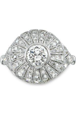 Pragnell Vintage Women Platinum Art Deco bombé diamond ring