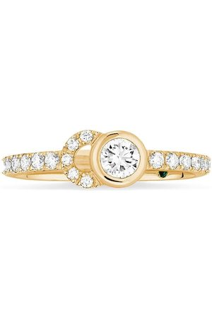 COURBET 18kt yellow CO half-pavé set diamond ring