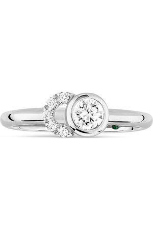 COURBET 18kt white gold diamond CO ring