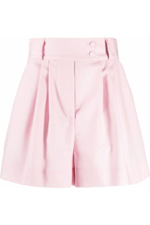 Styland High-rise pleated shorts