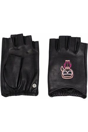 Karl Lagerfeld Ikonik Biarritz leather gloves