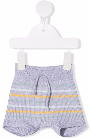 KNOT Baby Shorts - Striped ribbed-knit shorts