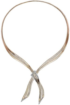 Pragnell Vintage Women Necklaces - 18kt yellow retro diamond crossover necklace