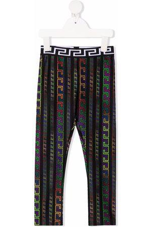 VERSACE Girls Leggings - Greek Keys print leggings