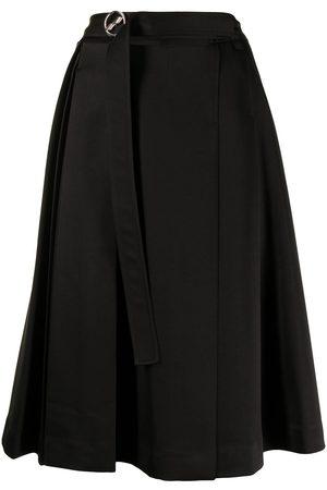 We11 Done Pleated midi skirt
