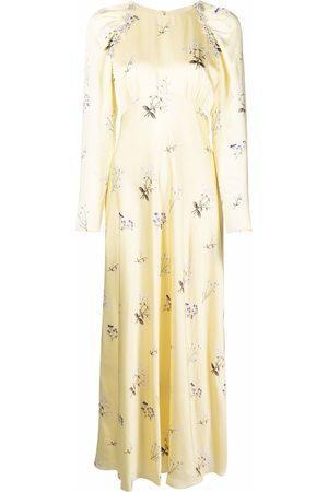 Self-Portrait Floral-print long-sleeve dress