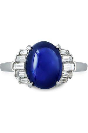 Pragnell Vintage Platinum Art Deco sapphire and diamond ring